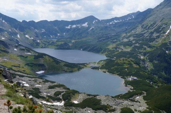 Widok na dawne kotły lodowcowe (Dolina Pięciu Stawów Polskich w Tatrach).